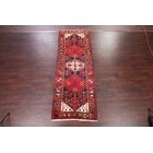 One-of-a-Kind Geometric Tribal Heriz Persian Hand-Knotted 3'10