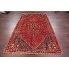 One-of-a-Kind Geometric Tribal Abadeh Shiraz Persian Hand-Knotted 5'8