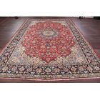 One-of-a-Kind Floral Najafabad Isfahan Vintage Persian Hand-Knotted 9'6