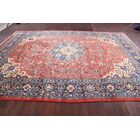 One-of-a-Kind Floral Sarouk Vintage Persian Hand-Knotted 9'5