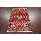 One-of-a-Kind Masi Floral Lilian Hamedan Vintage Persian Hand-Knotted 3'7