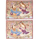 One-of-a-Kind Flemming Pair of Minatory Pictorial Kashmar Persian Hand-Knotted 2'2