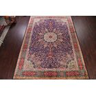 One-of-a-Kind Newlin Medallion Floral Tabriz Vintage Persian Hand-Knotted 11'4