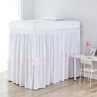 Harriss Threads Panel Bed Skirt Color: Gray/Pink