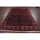 One-of-a-Kind All Over Geometric Mashad Persian Hand-Knotted 6'6