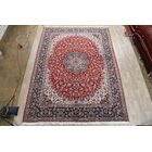 Soft Plush Floral Kashan Persian Red/Blue Area Rug