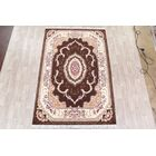 Soft Plush Floral Isfahan Traditional Persian Brown/Pink/Tan Area Rug Rug Size: Rectangle 6'7