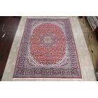 Elia Soft Plush Floral Kashmar Persian Red/Ivory/Black Area Rug
