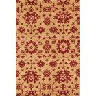 One-of-a-Kind Merrill Transitional Floral Gold/Red Moroccan Oushak Indian Oriental Red/Burgundy Area Rug