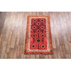 One-of-a-Kind Traditional Lori Shiraz Persian Hand-Knotted 4'4