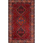 One-of-a-Kind Lori Shiraz Vintage Persian Hand-Knotted 5' x 8' Wool Blue/Burgundy/Beige Area Rug