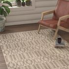 Bennett Geometric Hand-Woven Wool Ivory Area Rug Rug Size: Rectangle 4' x 6'