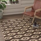 Lollar Cream/Brown Area Rug Rug Size: Rectangle 9' x 12'