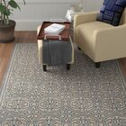 Ferrill Blue/Cream Area Rug Rug Size: Rectangle 8' x 10'