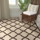 Cashion Cream/Brown Area Rug Rug Size: Rectangle 8' x 10'