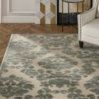 Hartz Ivory/Green Area Rug Rug Size: Rectangle 7'9