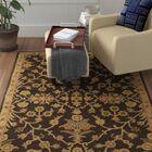 Casselman Black/Gold Area Rug Rug Size: Round 6'
