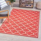 Winchell Geometric Red Area Rug Rug Size: 5 x 8