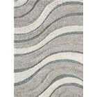 Kevin Waves Gray Area Rug Rug Size: Rectangle 5'3