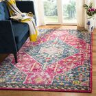 Grieve Pink/Turquoise Area Rug Rug Size: Rectangle 9' x 12'