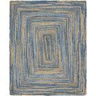 Philo Braided Chindi Blue Area Rug Rug Size: Rectangle 8' x 10'
