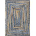 Philo Braided Chindi Blue Area Rug Rug Size: Rectangle 6' x 9'