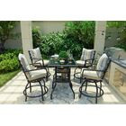 Rosalyn High Swivel 6 Piece Dining Set with Cushions