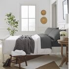 Nava Savannah 300 Thread Count 100% Organic Cotton Sheet Set Size: Full, Color: Slate Gray