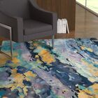 Annan Hand-Tufted Silver/Blue Area Rug Rug Size: Rectangle 8'6