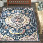 Diep Blue/Ivory Area Rug Rug Size: Rectangle 12'6