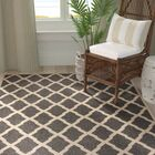 Callender Black/Creme Area Rug Rug Size: Rectangle 9' x 12'