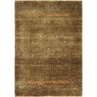 One-of-a-Kind Attridge Indo Gabbeh Hand-Knotted Wool Brown Area Rug