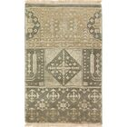 One-of-a-Kind Attwater Indo Mamluk Hand-Knotted Wool Gray Area Rug