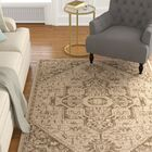 Burnell Beige/Cream Area Rug Rug Size: Rectangle 5'1
