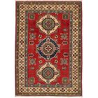 One-of-a-Kind Alarice Hand-Knotted Wool Red Area Rug