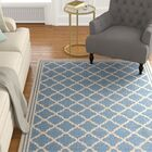 Sherell Blue/Creme Area Rug Rug Size: Rectangle 5'1