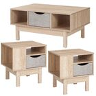 Kiro 3 Piece Coffee Table Set Color: Beige