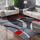 Cobbett Abstract Gray/Black Area Rug Rug Size: Rectangle 7'10'' x 10'6''