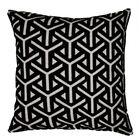 Keller Mushroom Geometric Throw Pillow Color: Black