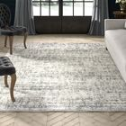 Battlefield Ivory/Gray Area Rug Rug Size: Rectangle 7'10