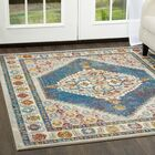 Helms Blue/Ivory Area Rug Rug Size: Rectangle 9'2