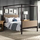 Fromberg Maney Queen Upholstered Canopy Bed Color: Gray