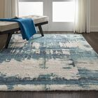 Conklin Hand-Tufted Blue Area Rug Rug Size: Rectangle 7'6