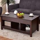 Alaska Lift Top Coffee Table with Storage Color: Espresso