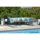 Cormier 9 Piece Modular Sectional Seating Group with Cushions Cushion Color: Blue