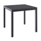 Killingworth Aluminum Dining Table Color: Black