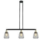 Vinson 3-Light Kitchen Island Pendant Bulb Type: Incandescent, Shade Color: Mercury Plated, Finish: Black Antique Brass