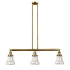 Nardone 3-Light Kitchen Island Pendant Bulb Type: Incandescent, Shade Color: Seedy, Finish: Brushed Brass