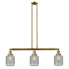 Iyana 3-Light Kitchen Island Pendant Bulb Type: Incandescent, Finish: Brushed Brass