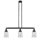 Greeley 3-Light Kitchen Island Pendant Shade Color: Clear, Bulb Type: LED, Finish: Matte Black